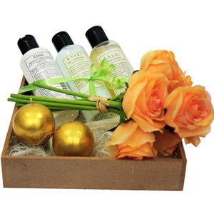 Hamper includes: Herbal shampoo, hair conditioner and nourishing cream. Volume: 210 ml each. Bunch of 7 artificial roses. 2 round golden candles. Rs 1599/- http://www.tajonline.com/mothers-day-gifts/product/md2125/the-soothing-spa-for-women/?aff=pint2014/
