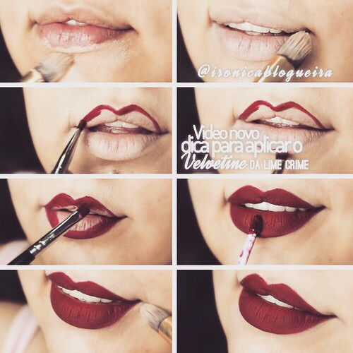 How to put on your favorite lipstick.