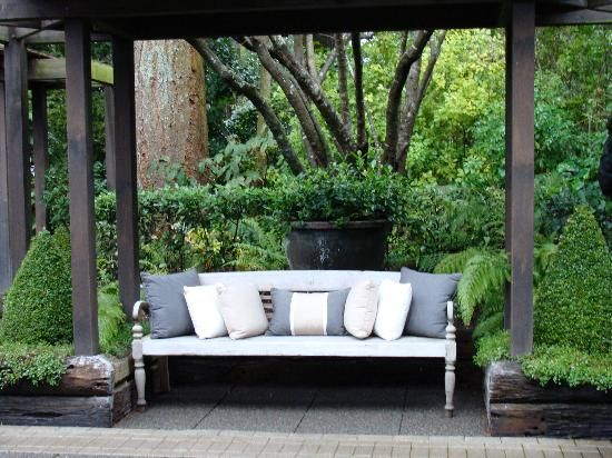 Attention to detail - lovely outdoor sitting area to enjoy a cup of tea or a late afternoon sundowner.