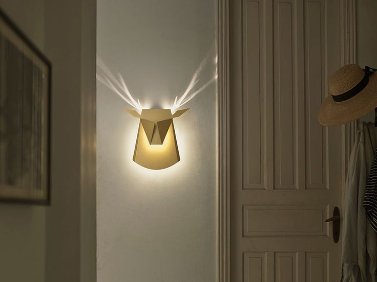 "Tel Aviv-based designer Chen Bikovski creates minimalist light fixtures that are not only aesthetically beautiful, but also hide a little trick inside. The magic lies in one simple flip of the switch and the wall lamps turn into animals, creating a ""wow effect"" that is inspired by designer's childhood memories."