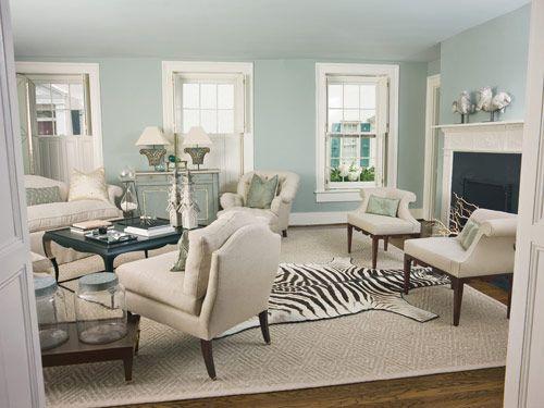 Pale Blue Lounge Feature Wall Pinterest Carpets