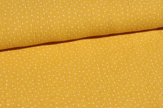 DOUBLE GAUZE Cotton Muslin Golden Dot 100/% Cotton Fabric Dressmaking OEKO-TEX