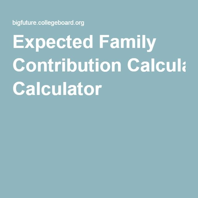 Expected Family Contribution Calculator