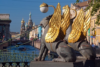 The Bank Bridge, St. Petersburg, Russia