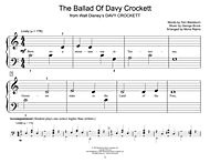 The Ballad Of Davy Crockett Digital Sheet Music by Bill Hayes, Fess Parker, Tennessee Ernie Ford, and Hal Leonard Student Piano Library | Sheet Music Plus