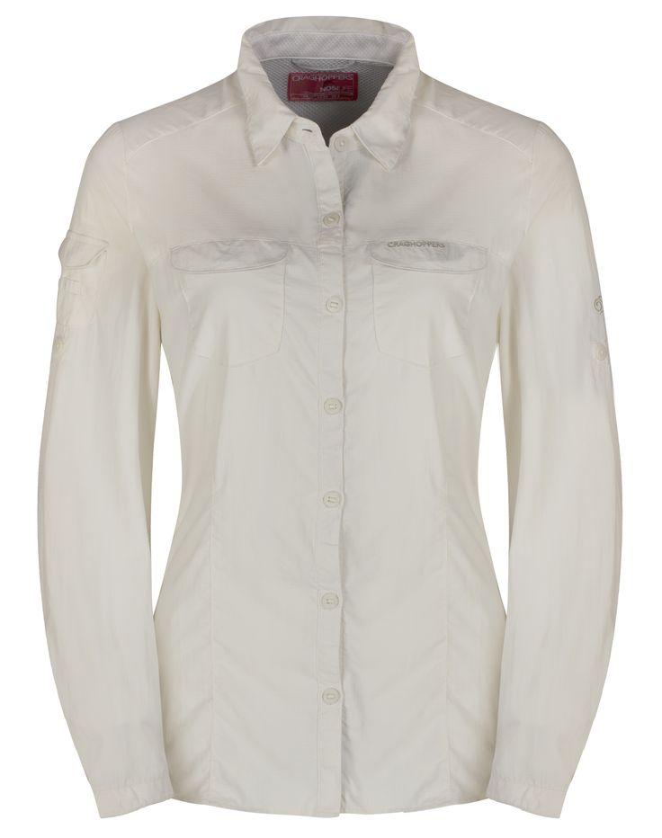 Doorout Angebote Craghoppers Nosilife Adventure Langarm Bluse weiß Damen Gr. 44: Category: Outdoorbekleidung > Damen >…%#Quickberater%