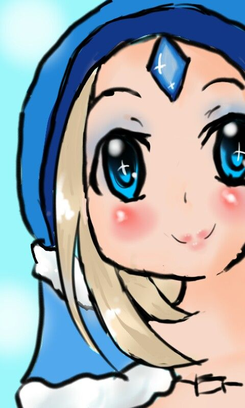 My little Support... ❤ Crystal Maiden use Autodesk Sketchbook