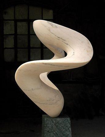 Richard Erdman, Aria Rosa, 2012, Portugese Marble, 76 X 30 X 23 inches