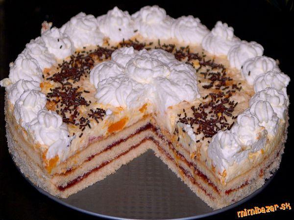 TRASENÁ MANDARINKOVÁ TORTA: Mandarinková Torta, Trasená Mandarínková, Torty Recepty, Trasená Mandarinková, Mandarínková Torta