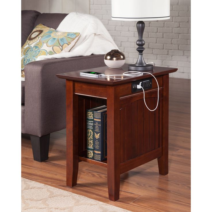 Shop Our Biggest Semi-Annual Sale Now! End Table With Lamp, Wood Home Goods: Free Shipping on orders over $45 at Overstock.com - Your Home Goods Store! Get 5% in rewards with Club O!