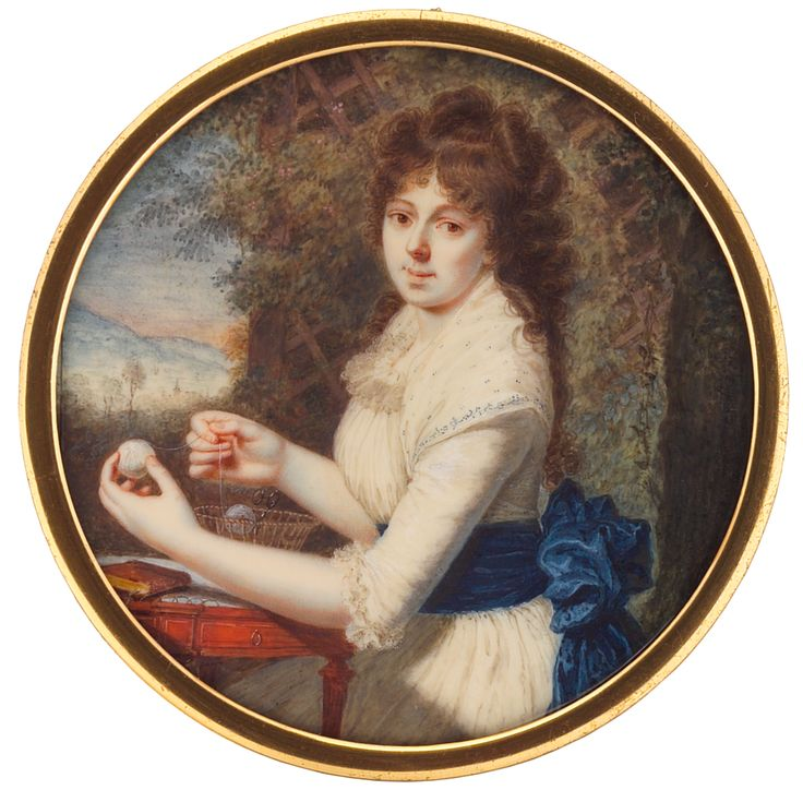 Lady with Balls of Thread, by Pierre Louis Bouvier, 1793  – Tansey