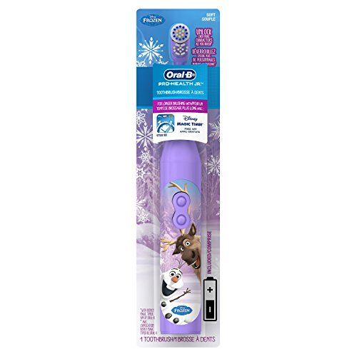 The  #oral-b pro-health stages power battery toothbrush featuring Anna and Elsa or Olaf and Sven from Disney's frozen give your own little princes and princesses ...
