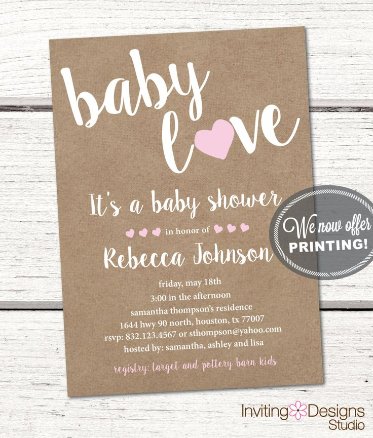 279 best Baby Shower Invitations images on Pinterest