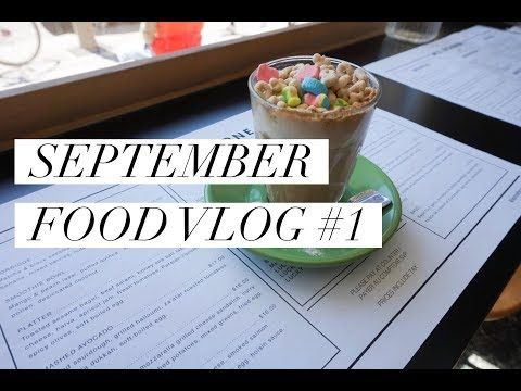 SEPTEMBER FOOD VLOG PT.2: I WENT TO THE CUTEST ICE CREAM PLACE - YouTube