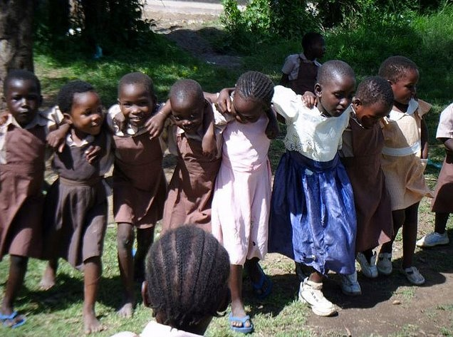 Children who will attend the nursery school which SEEDS and MFHS will build together