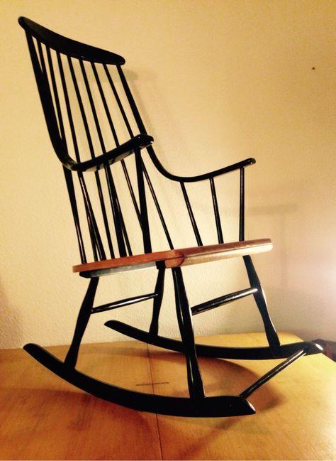 Fauteuil Rocking chair scandinave Lena Larsson 1960 : Meubles et rangements par au-fur-et-a-mesure