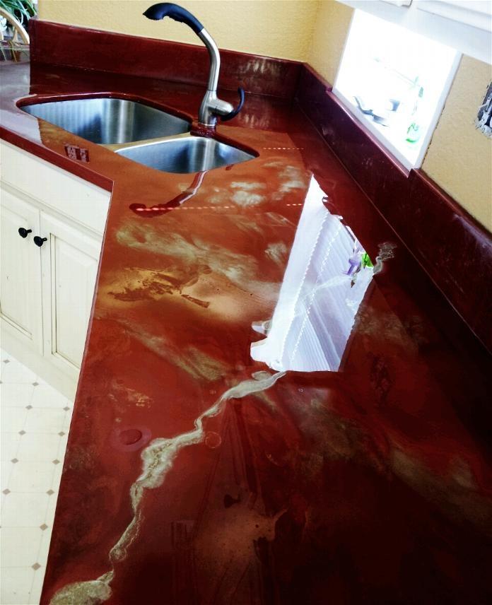 Fire Copper Kit Epoxy Countertop Diy Countertops Countertops