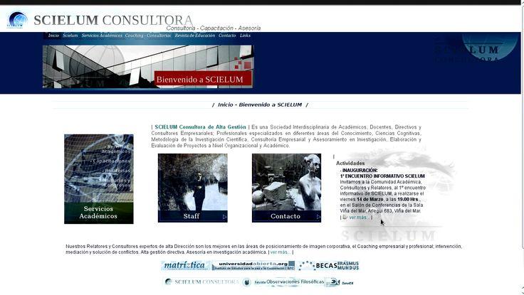 SCIELUM CONSULTORA DE ALTA GESTIÓN ACADÉMICA Y EMPRESARIAL. Ver: ↓ 1.-  SCIELUM CONSULTORA DE ALTA GESTIÓN ACADÉMICA Y EMPRESARIAL _ UNIVERSIDAD ABIERTA CAMPUS VIRTUAL IEPC EDUCACIÓN, INVESTIGACIÓN Y CONSULTORÍA ATE - OTEC - SEMINARIOS  http://philosophieliterature.blogspot.com/2014/03/scielum-consultora-de-alta-gestion_2733.html