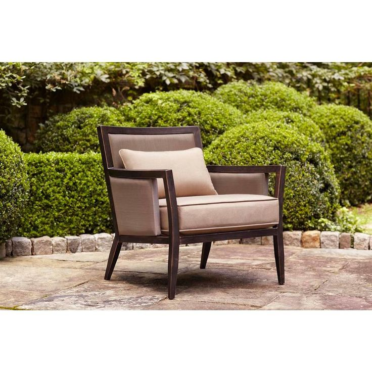 Brown Jordan Greystone Patio Lounge Chair with Sparrow Cushions-DT005-L - The Home Depot