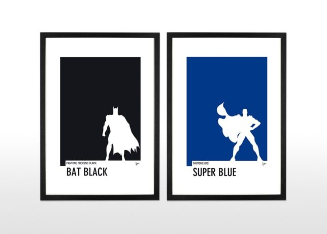 Batman Pantone Poster by Chungkong | made.com