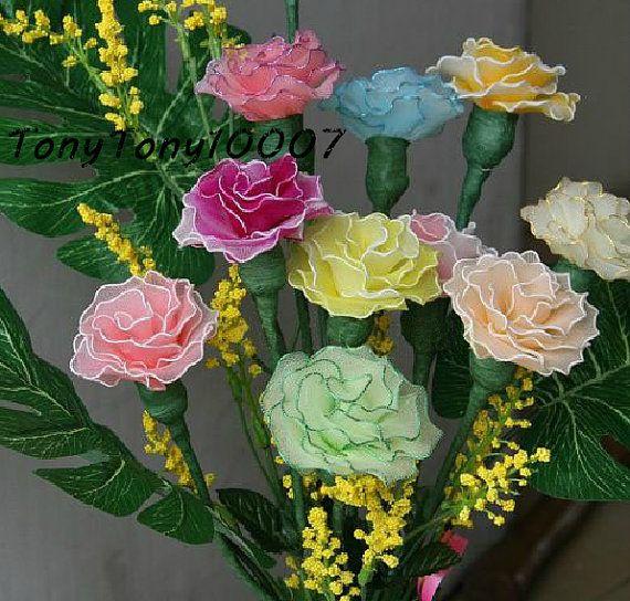Handmade Colorful Carnation