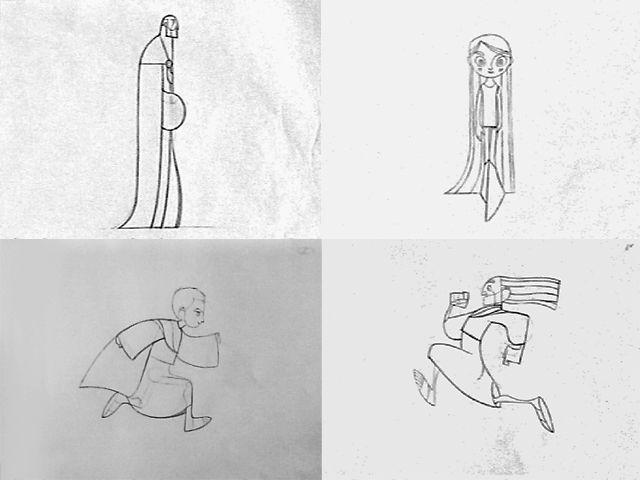 The Secret of Kells (2009) - Walk & Run Cycle Pencil Tests by Living Lines Library. © Buena Vista International © Cartoon Saloon © Gébéka Films © GKIDS © Optimum Releasing