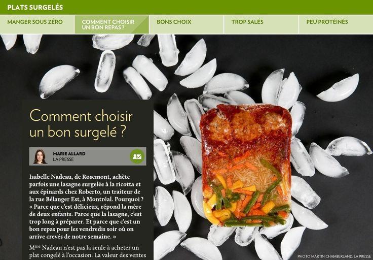 Isabelle Nadeau, de Rosemont, achète parfois une lasagne surgelée à la ricotta et aux épinards chez Roberto, un traiteur de la rue Bélanger Est, à Montréal. Pourquoi? «Parce que c'est délicieux, répond la m&eg