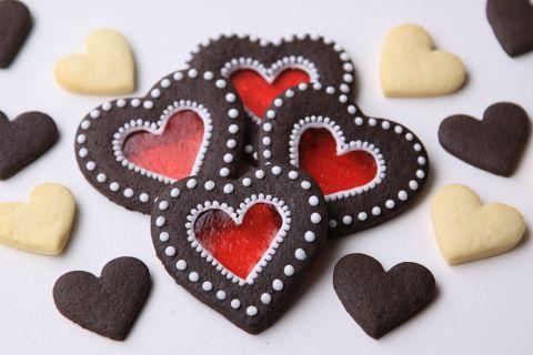 Heart cookies ステンドグラスクッキー