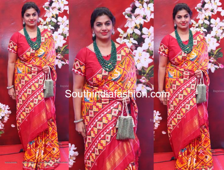 Pinky Reddy in a Patola Silk Saree