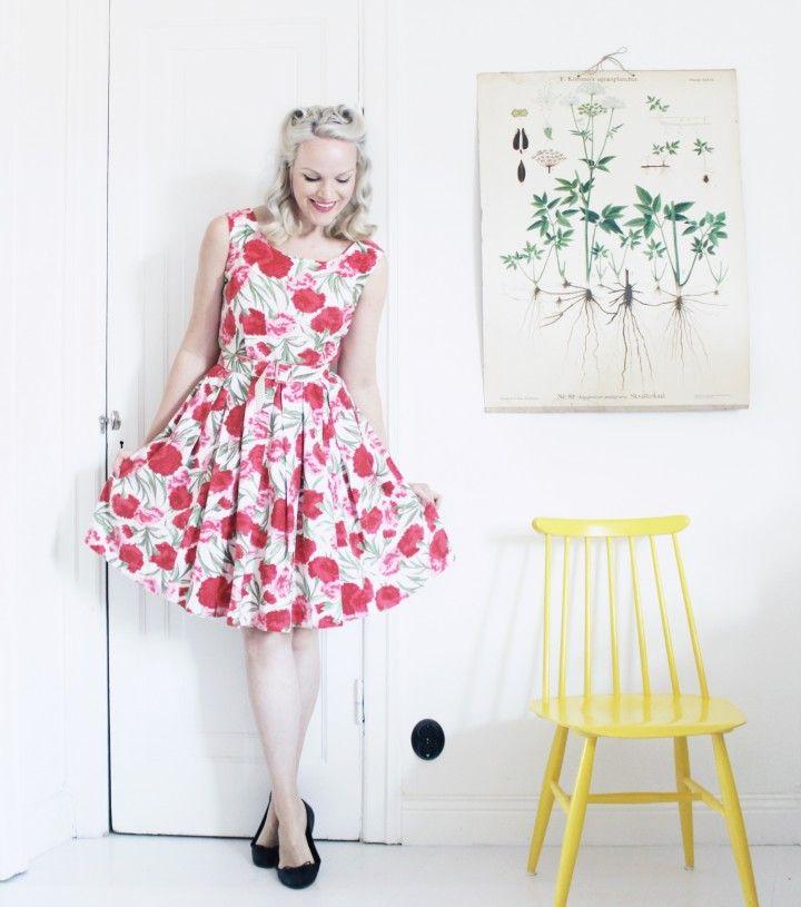 klänning sommarklänning vintage vintagemässa
