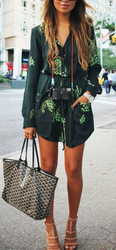 romper + strappy heels + goyard bag- Sincerely Jules you are always on Point!