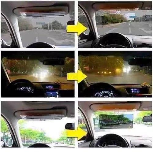 Visor Tapa Sol Quebra Sol Dirigir A Noite Dia Hd Vision Anti Reflexo - Protetor Solar Para Olhos Para Carros - Adrishop - Sua Loja de Variedades