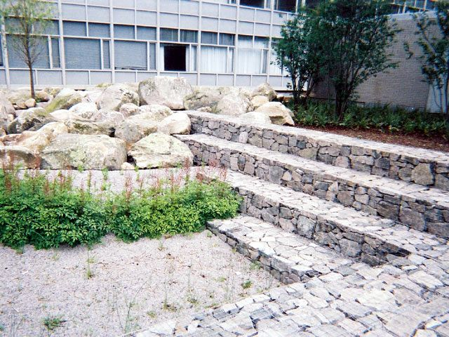 17 best images about slopes on pinterest gardens for Gabion landscaping