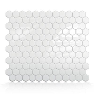 Hexago Self Adhesive Wall Tile  Decoration made easy. One of the most revolutionary and unique products in the world, Smart Tiles are very easy to install - just peel and stick! The do-it-yourself peel and stick method of Smart Tiles uses an adhesive substrate topped with a clear gel component called Gel-0™ (which gives it its 3-dimensional effect) that makes the product so easy to handle, cut, and maintain you will wonder why this was not invented before.Makes life a lot easier…