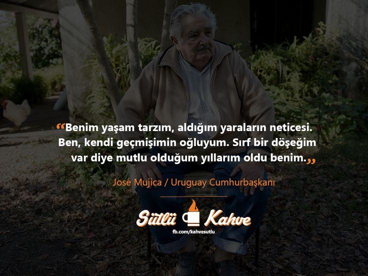 """Uruguay Cumhurbaşkanı José Mujica. Türkiye'nin başına böyle liderler düşer mi dersiniz?  """"Benim yaşam tarzım, aldığım yaraların neticesi. Ben, kendi geçmişimin oğluyum. Sırf bir döşeğim  var diye mutlu olduğum yıllarım oldu benim.""""  #JoseMujica #Uruguay #UruguayCumhurbaskani #Cumhurbaskani"""