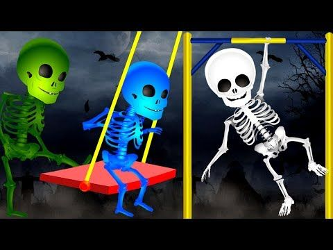 (15) Skeleton Playing In Park | Finger Family Rhyme | Funny Colors Skeleton Rhymes | Kids Nursery Rhymes - YouTube
