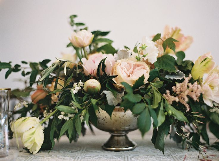 Amazing wedding centerpiece florals by Southern Blooms by Pat's Floral Designs.