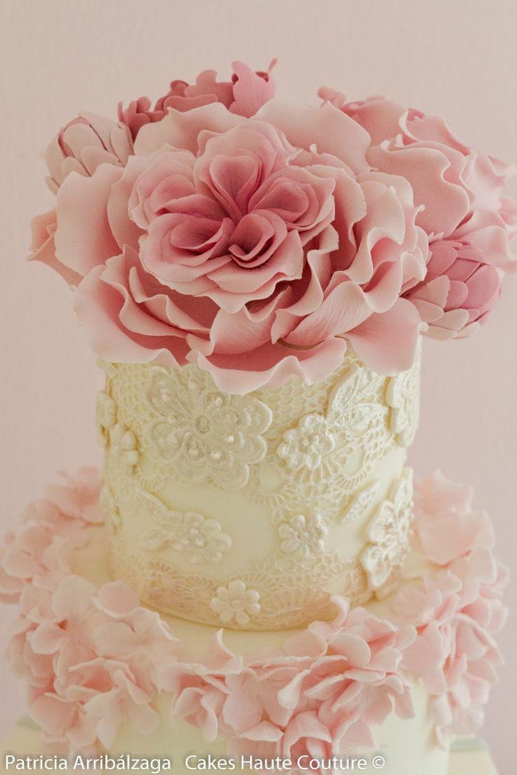 tartas fondant con flores vintage - Buscar con Google