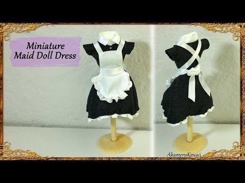 Miniature Maid Doll Dress / Uniform - Fabric Tutorial - YouTube
