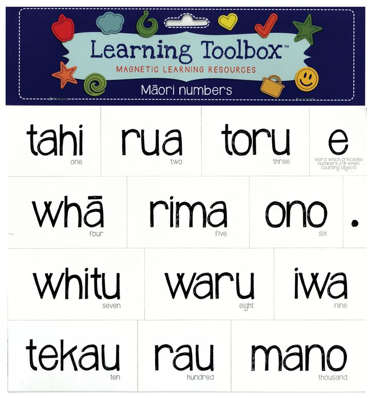 Magnetic Maori Numbers | Teaching Resources