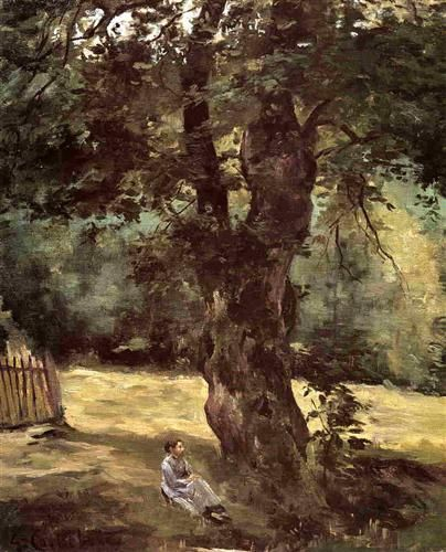 Woman Seated Beneath a Tree - Gustave Caillebotte