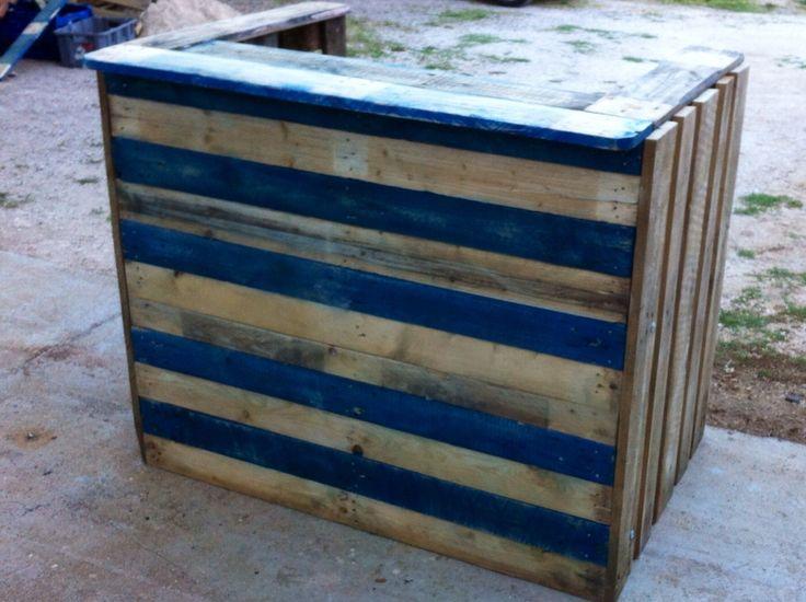 Table d 39 appoint de chevet bois et metal bar - Construire un comptoir de bar ...