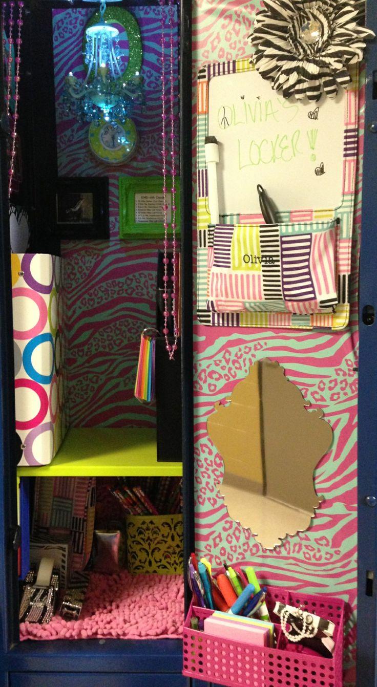 Locker decor for my diva. #Locker #DIY