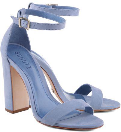 2c367b022 SANDÁLIA SALTO BLOCO BLUE AZUL | Grounded to earth | Sapatos, Saltos azuis,  Sandália jeans