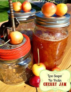Want to make jam the old-fashioned way without store bought pectin? Learn to put up preserves like the pioneers. Grab this easy low sugar and no store bought pectin cherry jam recipe now