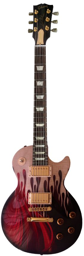 Gibson  les paul wth an AWESOME looking custom paint.