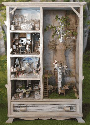 armoire with dollhouse rooms