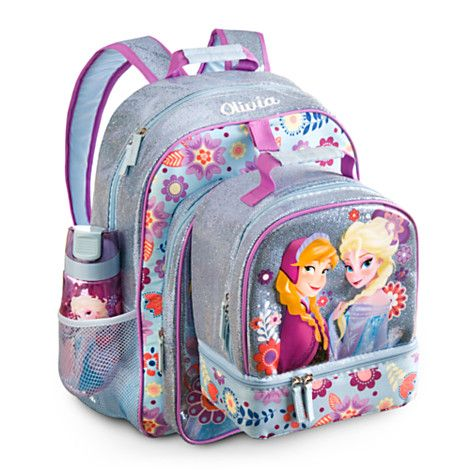 Frozen Backpack and lunch pack combo 6/16/2014 at the Disney Store. Frozen Backpack - Personalizable