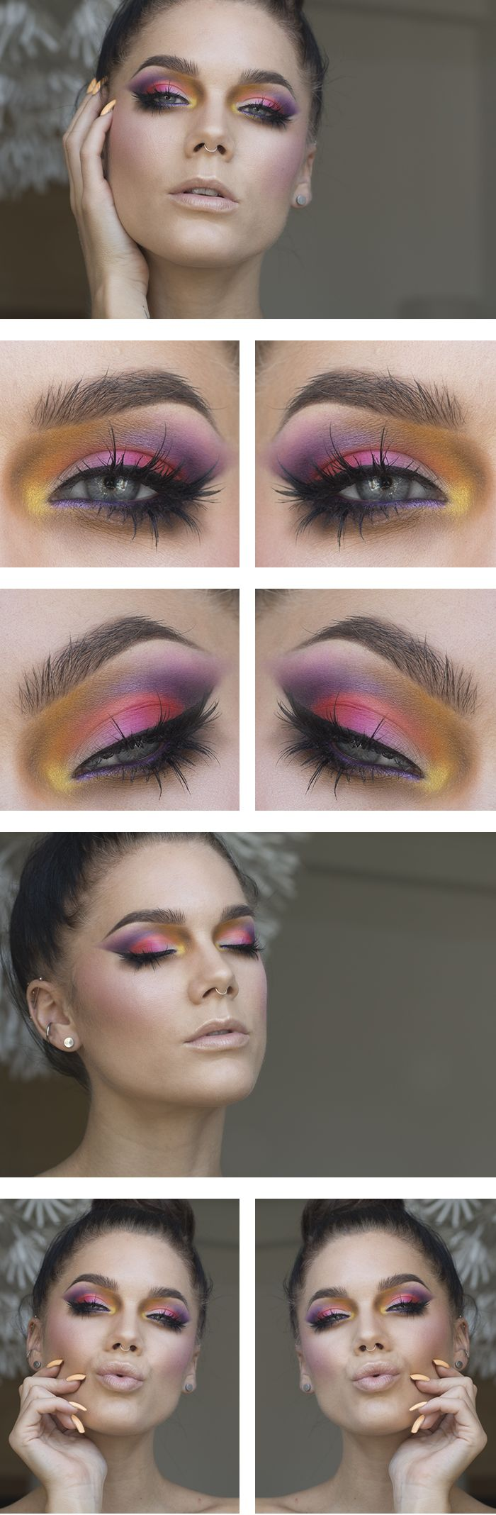 Firar det fantastiska vädret med massa färg! Jag har använt/I've used NYX HD eyeshadow base Colors from a no name palette (some kind of 88-palette) MAC pearlglide intense eyeliner Designer purple Loreal Super liner perfect slim Intense black House of...
