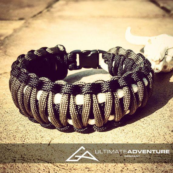Black Gray White King Cobra Paracord by UltimateAdventureCo